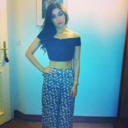 Crop Top: RiverIsland Palazzo Pants: Newlook