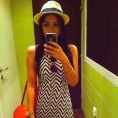 Trilby & Bag: Newlook Dress: H&M Aviators: Penneys