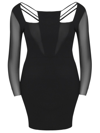 boohooPLUS BLACK CUTOUT DRESS €26