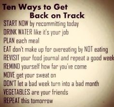 motivation, inspiration, weightloss, get back on track, begin again, positivity