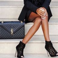 Fashion, Black, Heels, YSL, Bag, Inspiration, Photography