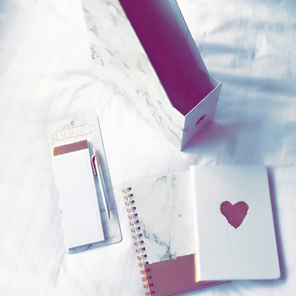 Photography, inspiration, Irish blogger, marble accessories, rose gold, stationery, Penneys, primark
